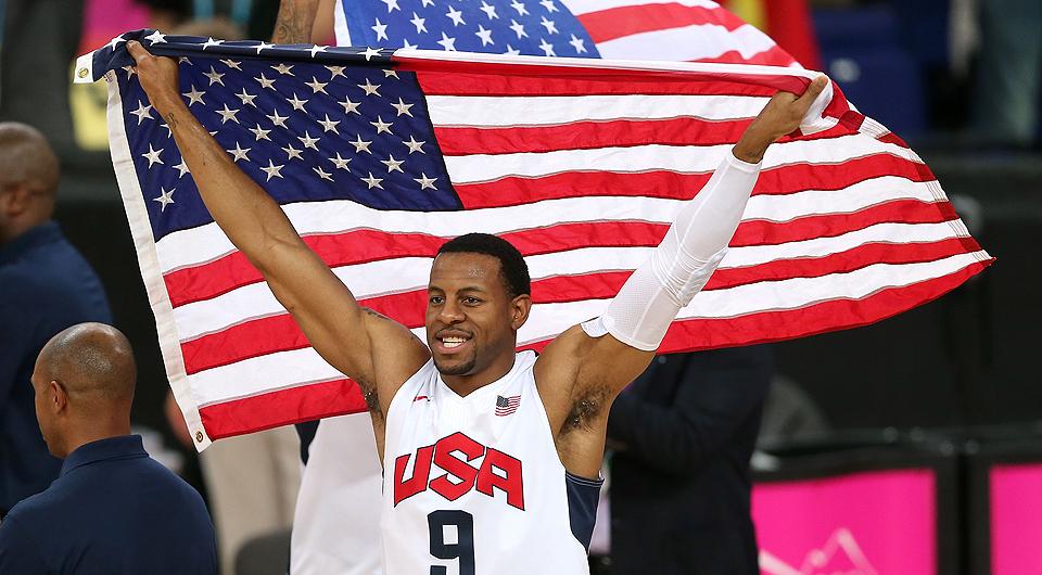 USA's Andre Iguadala celebrates