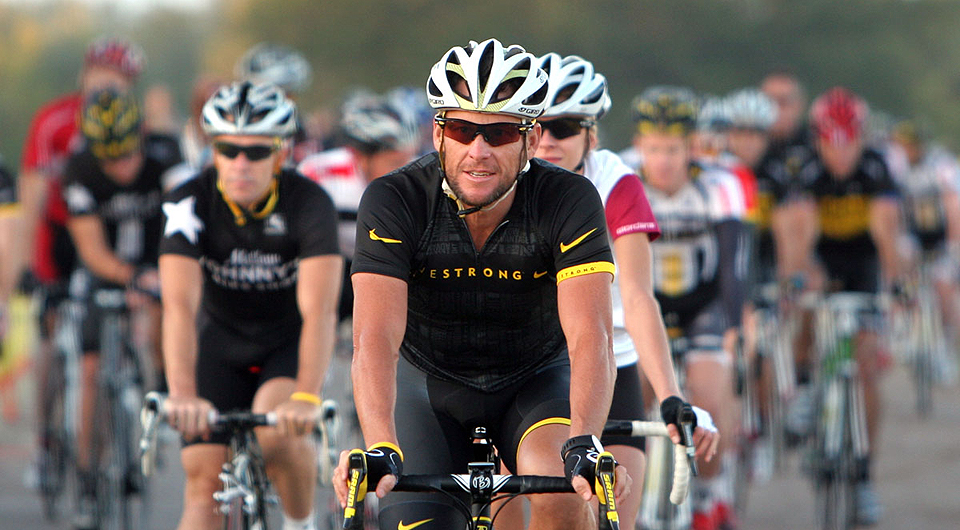 Lance Armstrong in action