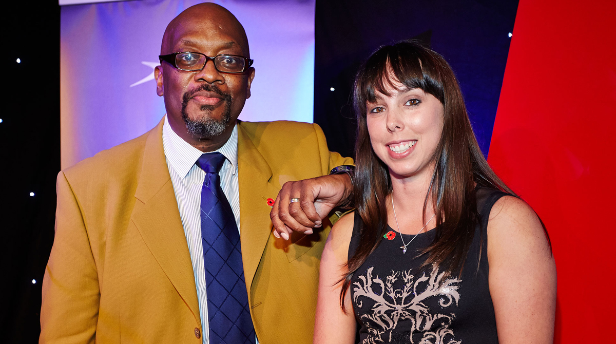Mike Shaft with Olympian Beth Tweddle