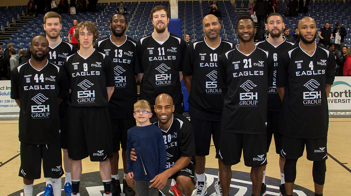 Newcastle Eagles 2014/15 squad. Photo by Dave Moore.