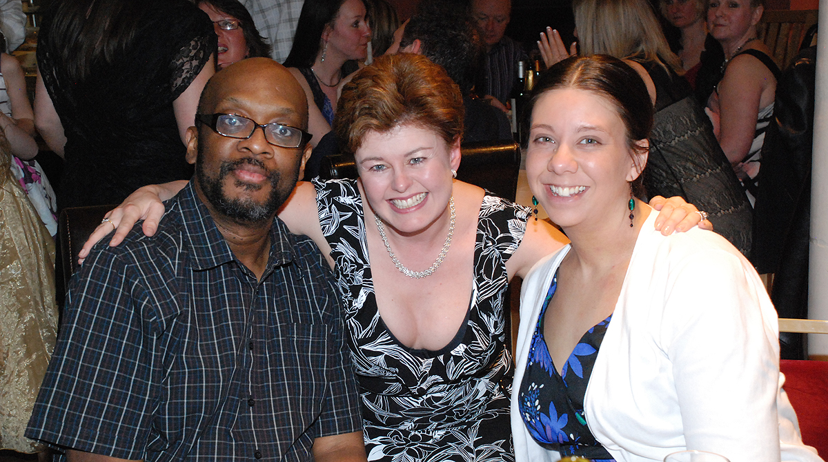 Mike Shaft with Becky Kelly & the late Deborah Hollamby.