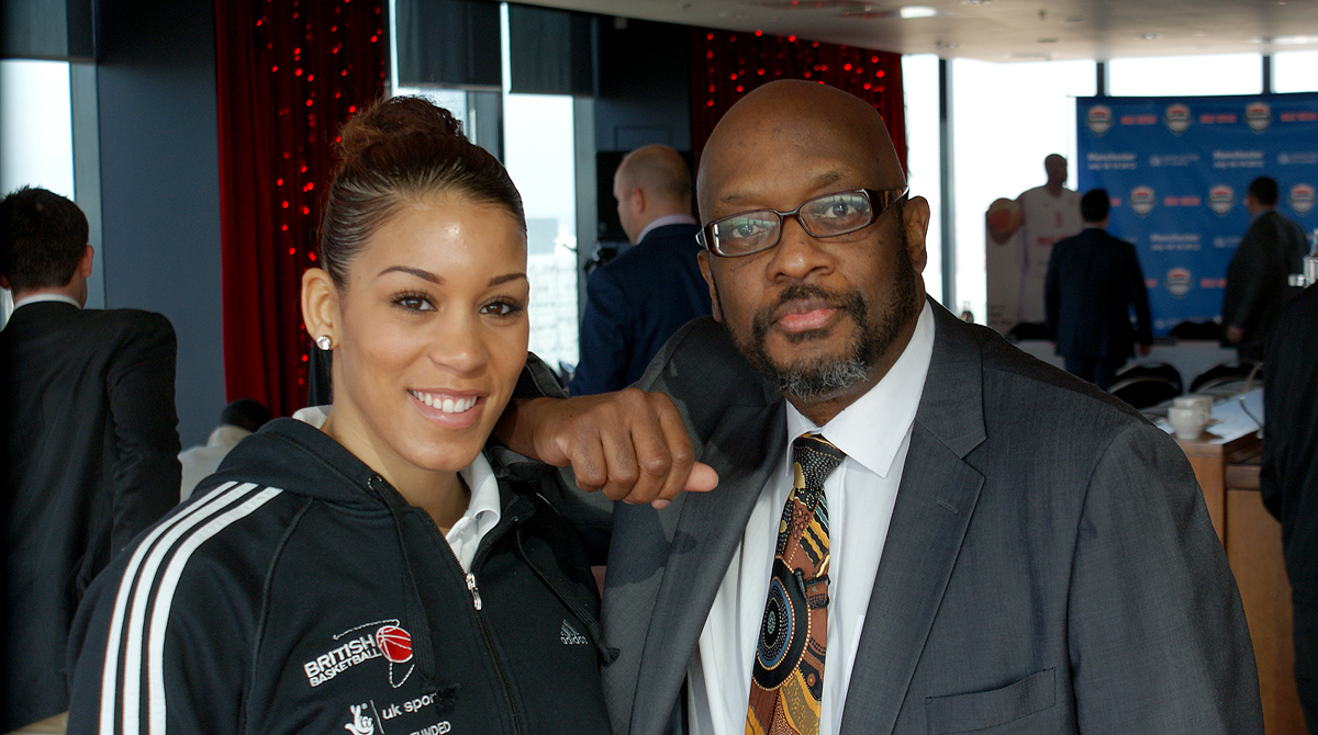 Mike Shaft with WBBL Legend Lauren Thomas-Johnson