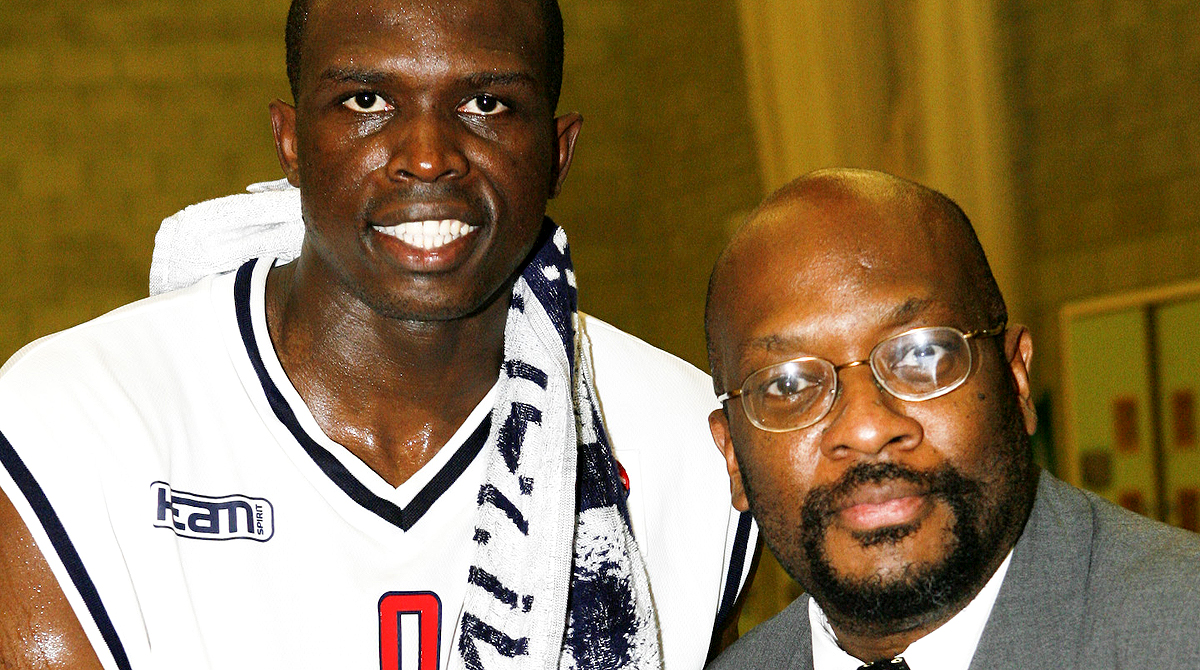 Mike Shaft with England & NBA star Luol Deng