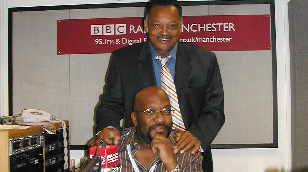 Mike Shaft with the Rev Jessie Jackson