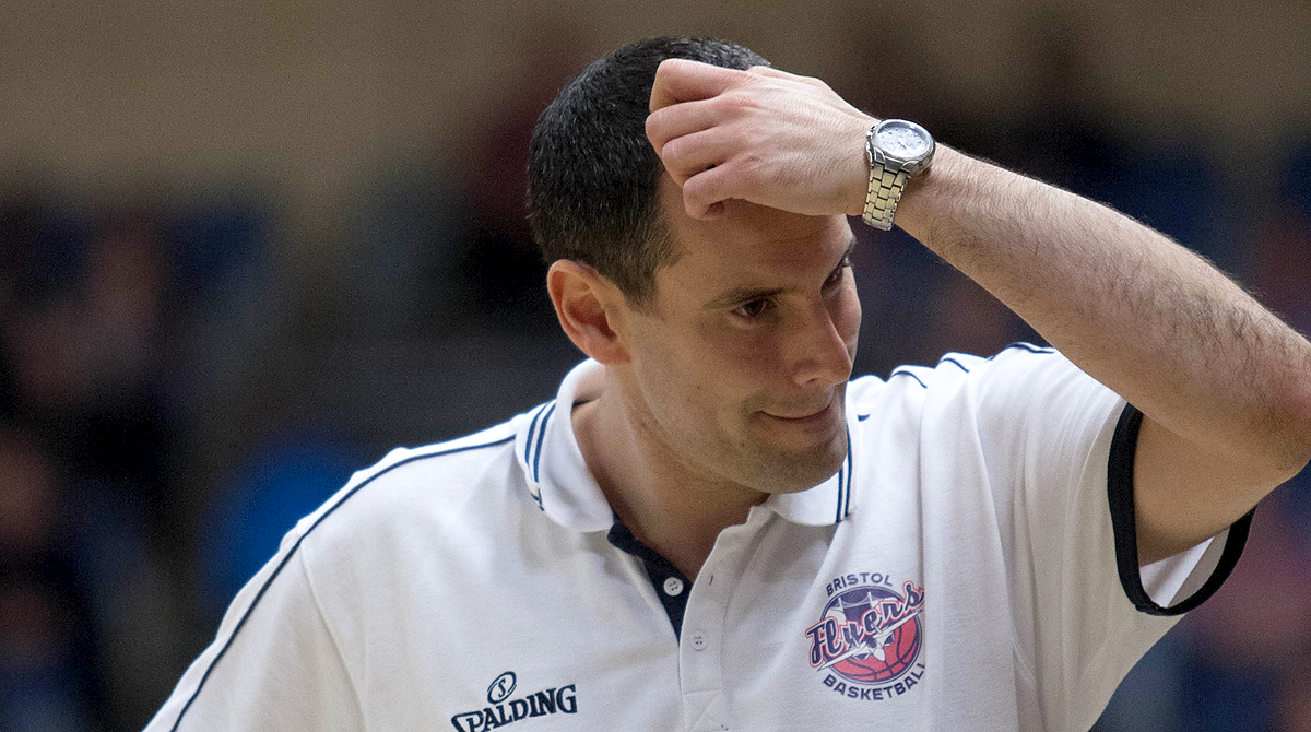 Bristol Flyers Head Coach Andreas Kapoulas