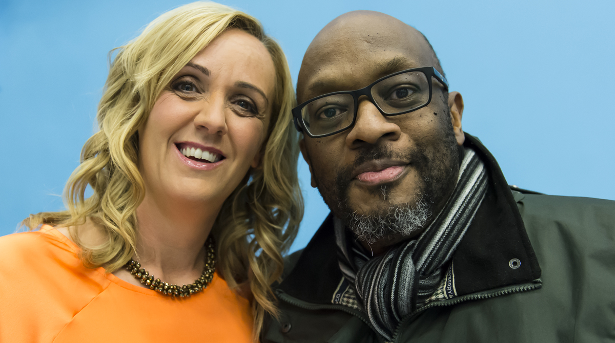 Mike Shaft & Tracey Neville,    Photo by Chris Midgley.