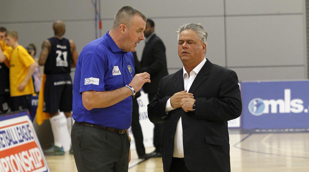 Phoenix Head Coach John Coffino and assistant John Lavery. Library photo.