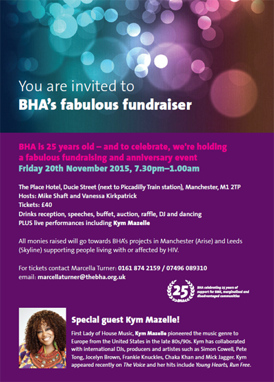 BHA 25th Anniversary Fundraising Event flyer 400